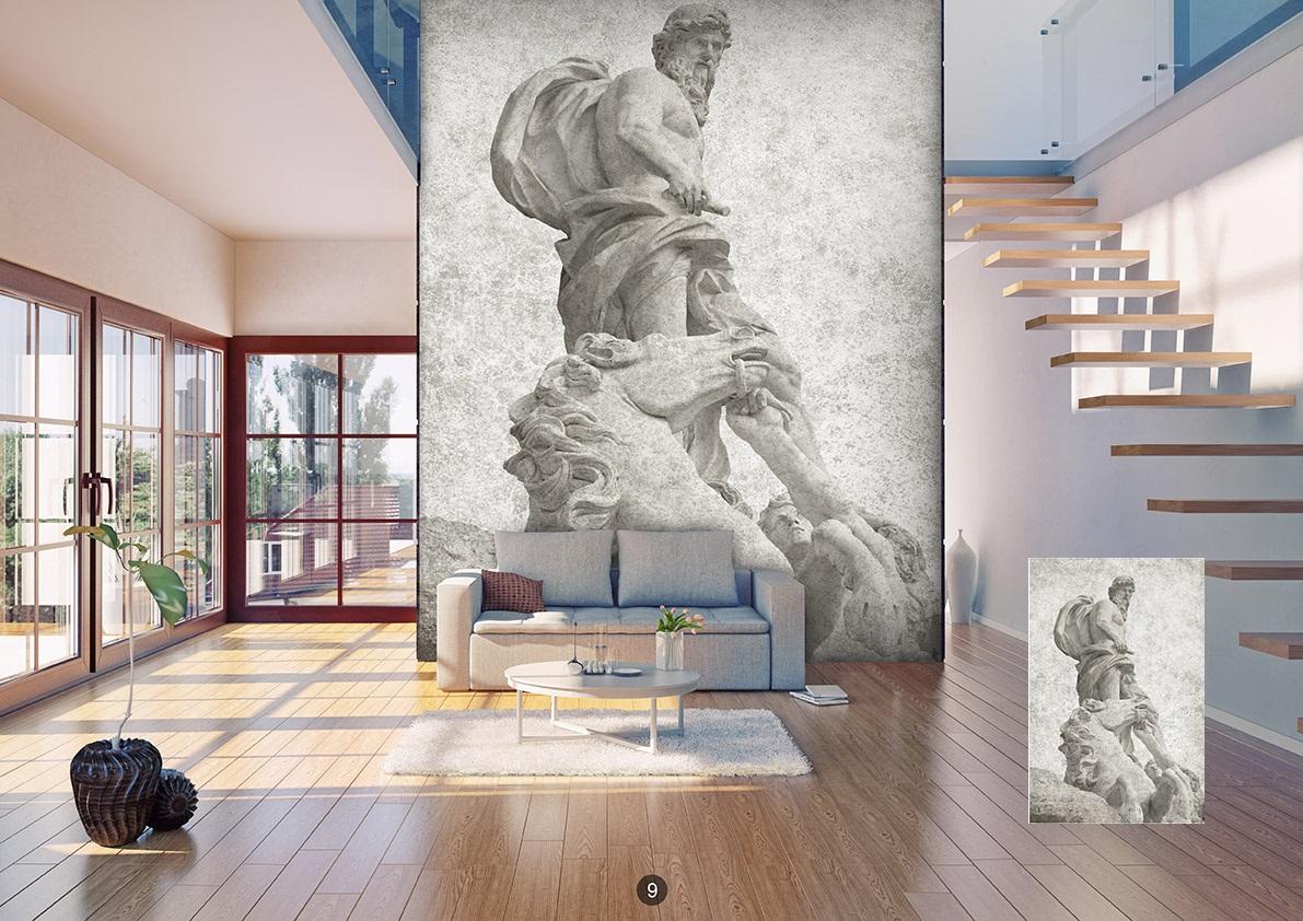 Pareti In Tela : Quadro su tela interno elegante loft contemporaneo con pareti in